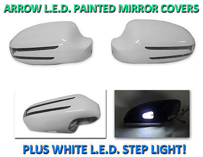 Arrow LED Painted Silver Mirror Cover LED Step Light For USA 03-09 W209 CLK