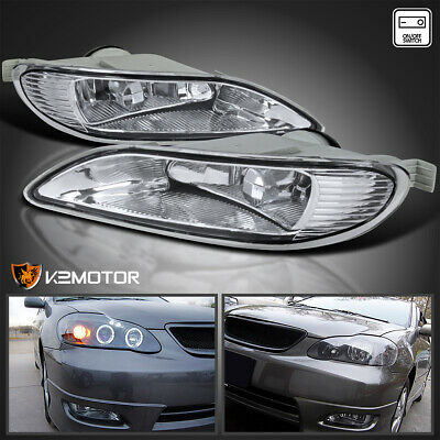 For Toyota 05-08 Corolla 02-04 Camry Clear Bumper Driving Fog Lights+Switch
