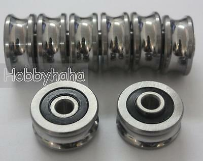 New 10pcs SG20 U Groove Sealed Ball Track Guide Bearing Textile 6*24*11mm