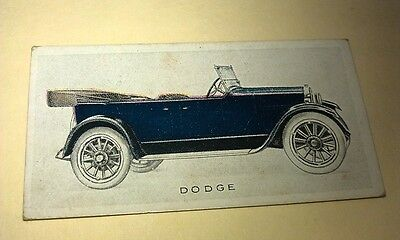 1923 DODGE   Orig Wills Cigarette Card New Zealand