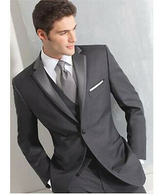 Two buttons side seam for incision lapel the groom's best man suit wedding dress