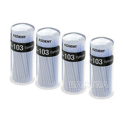4X Micro Applicators materials Dental Brush Cylinder White MA-103 Disposable
