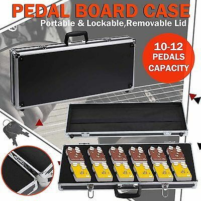 Pedal Board Case Guitar Effects Travel Musical Carry Box Lockable Aluminium
