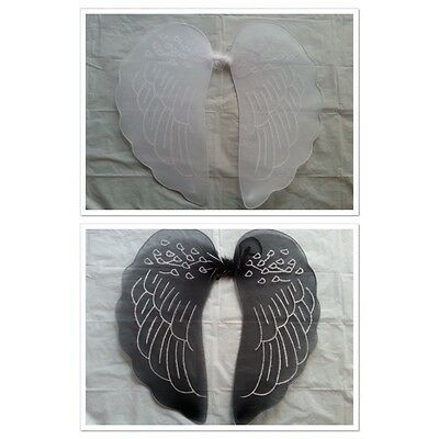 Fancy Black/white Fairy Angel Wings With Gliter Dress Up Halloween/Party/Costume