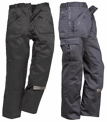Portwest Action Cargo Trouser Kneepad Pocket Work Trousers S877