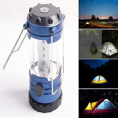 12 LED Portable USB Solar Rechargeable Lantern Outdoor Camping Hiking Lamp Light