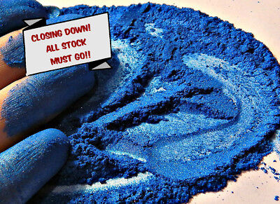Pearlescent Mineral Mica Powder Pigment 10g - Rainbow Blue CLOSING DOWN
