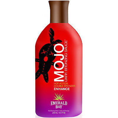 Emerald Bay MOJO Sunbed Dark Bronzer Tingle Tanning Accelerator Lotion 250ml