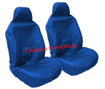 Audi A3 Cabriolet - Heavy Duty Blue Waterproof Seat Covers - 2 x Fronts