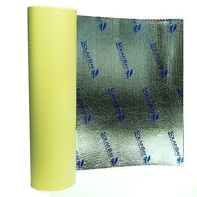 25 x 1.05m SolarBay Self Adhesive Thermal Bubble Foil Insulation Loft Camper Van
