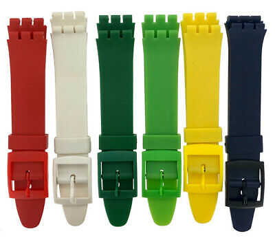 Resin 17mm Swatch Watch Strap Replacement 6 Colours