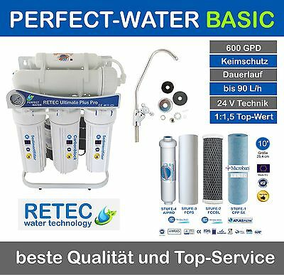 Ultimate PLUS PRO Osmoseanlage 600 GPD direct flow Umkehrosmose Wasserfilter