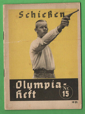 Orig.Guide / Extra PRG    XI.Olympic Games BERLIN 1936 - SHOOTING  !!  VERY RARE