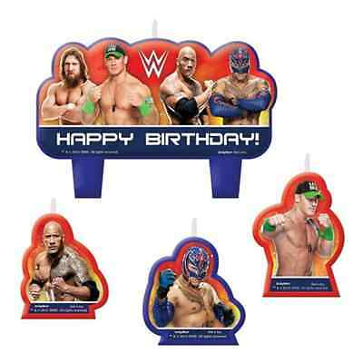 WWE Wrestling Birthday Party Cake Candles Set Of 4