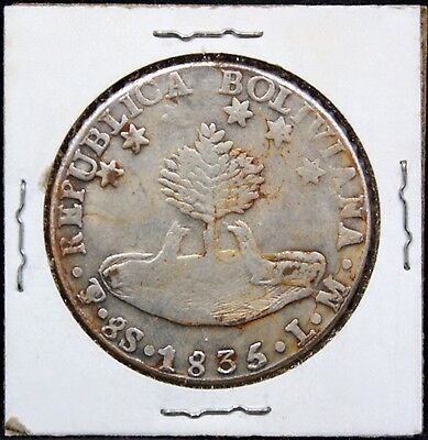 Bolivia 1835 Coin Lm 8 Soles Km#97