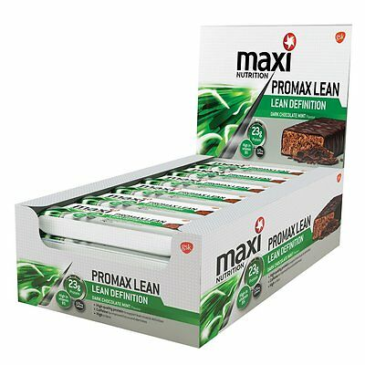 Maximuscle Promax Lean 60 g Dark Choc Mint Weight Loss and Definition Bars - Box
