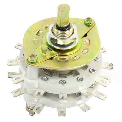 White Ceramic 2P11T 2Pole 11 Position Band Channel Rotary Switch Selector