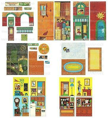 Vintage Fisher Price Little People 938 Sesame Street Replacement Lithos Stickers