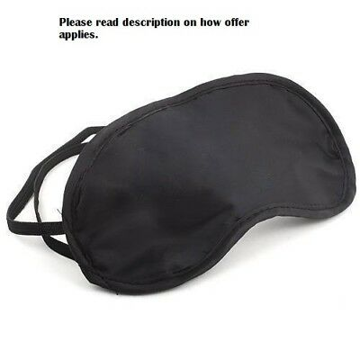 Sleep Eye Mask Travel Blindfold Shade Blinder Soft Elasticated Sleeping Aid UK