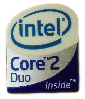 INTEL CORE 2 DUO  STICKER LOGO AUFKLEBER 19x24mm (130)
