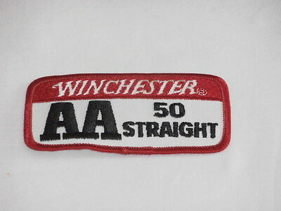 Winchester AA 50 Straight Trap Skeet Shooting patch Clays Shotgun Vintage