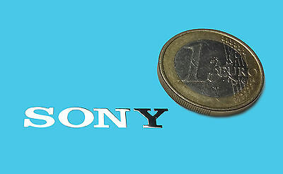 SONY  METALISSED CHROME EFFECT STICKER AUFKLEBER 30x5mm [55]