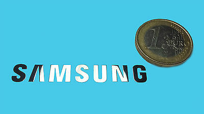 SAMSUNG METALISSED CHROME EFFECT STICKER LOGO AUFKLEBER 50x8mm [010]