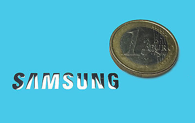 SAMSUNG METALISSED CHROME EFFECT STICKER LOGO AUFKLEBER 32x6mm [008]