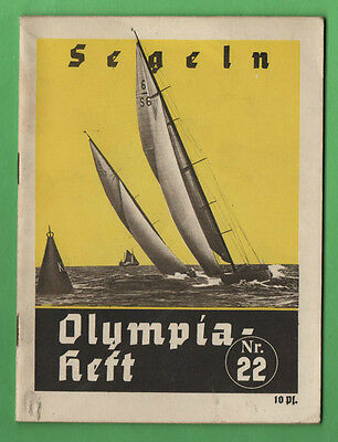 Orig.Guide / Extra PRG    XI.Olympic Games BERLIN 1936 - SAYLING  !!  VERY RARE