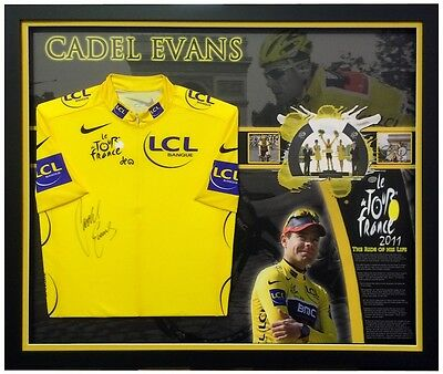 "Cadel Evans ""The Ride of His Life"" 2011 Yellow Tour De France Jersey – Framed"