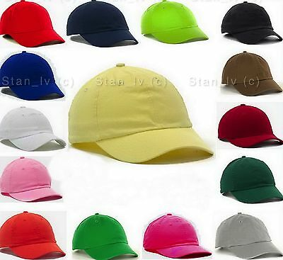 Low Profile Solid Blank Baseball Cap Curved Hat Polo Style New Adjustable