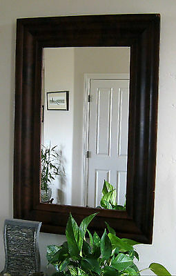 1860ish ANTIQUE MAHOGANY FRAMED MIRROR - AMERICAN EMPIRE STYLE