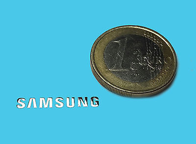 SAMSUNG METALISSED CHROME EFFECT STICKER LOGO AUFKLEBER 20x3mm [006]