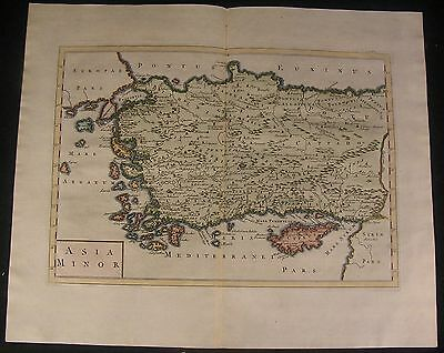 Turkey Asia Minor 1745 fine detailed folio sheet old vintage antique map