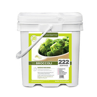Lindon Farms 222 Servings Freeze-Dried Broccoli Bucket Emergency Camping Hiking