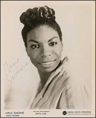 Nina SIMONE (Jazz): Signed Photo