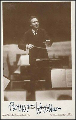 Bruno WALTER (Conductor): Signed Photo