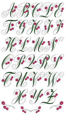 ABC Designs Charlotte Rose Font Machine Embroidery Designs in 2 sizes 54 designs