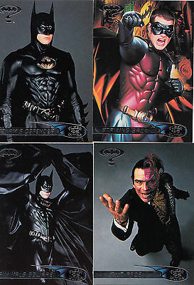 Batman Forever:1995-Movie- Fleer Ultra-Lot 1.4 Cards