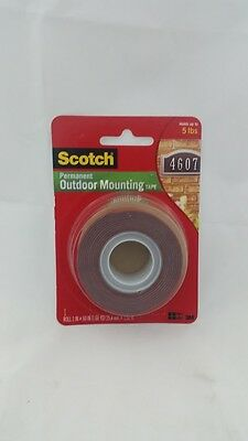 NEW 3M Scotch Permanent Outdoor Mounting Tape 25.4mmx1.51m 4011 Heavy Duty