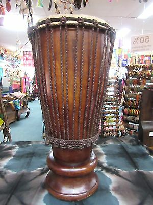 Unique Shaped Professional Hand Carved Djembe Bongo Drum Mahogany 60 cm