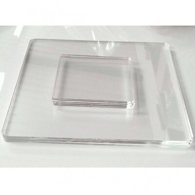 Clear Acrylic Square Shaped Placemats & Coasters Set of 4