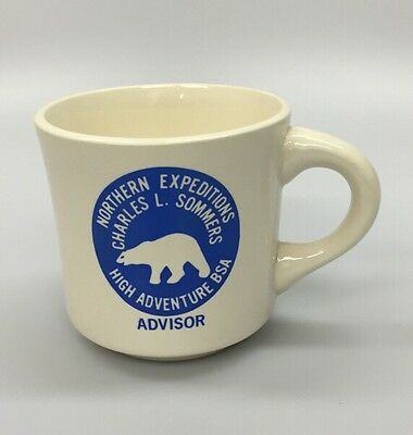 Vintage Boy Scout Coffee Mug Northern Expeditions Charles Sommers High Adventure