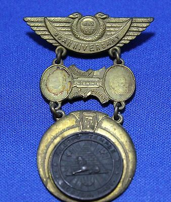 1882-1907 Vintage Aleppo Temple Shriners 25th Anniversary Boston Mass Medal 309