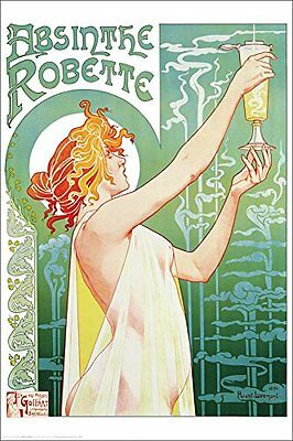 ABSINTHE ROBETTE - VINTAGE ART POSTER - 24x36 PRINT ADVERTISING 4042