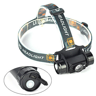 3W Infrared Sensors Rechargeable LED Headlamp Headlight Flashlight Head Torch L