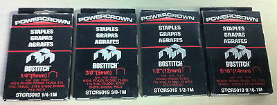"Stanley-Bostitch Powercrown 1/4"", 3/8"", 1/2"", 9/16"" Staples STCR5019 (1000 Pack)"