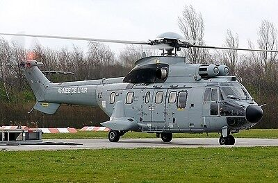 Aerospatiale AS-332L1 Super Puma France Air Force Helicopter Wood Model Large