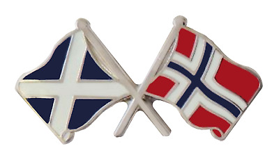 Norway Flag & Scotland Flag Friendship Courtesy Pin Badge - T438