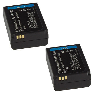2x MTEC Akku Batterie für Samsung Galaxy NX NX300 NX2000 ED-BP1130 Battery SET